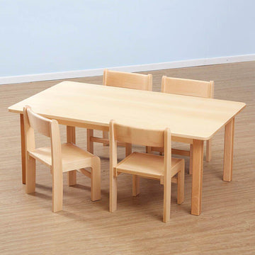 Classic Rectangular Solid Beech Table - 3 Heights available