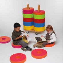 Bi- Colour Donut Cushions & Trolley Set of 24 - EASE