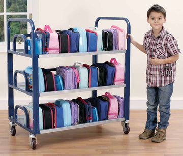 Double Lunchbox Trolley (hold up to 60 lunchboxes) - EASE