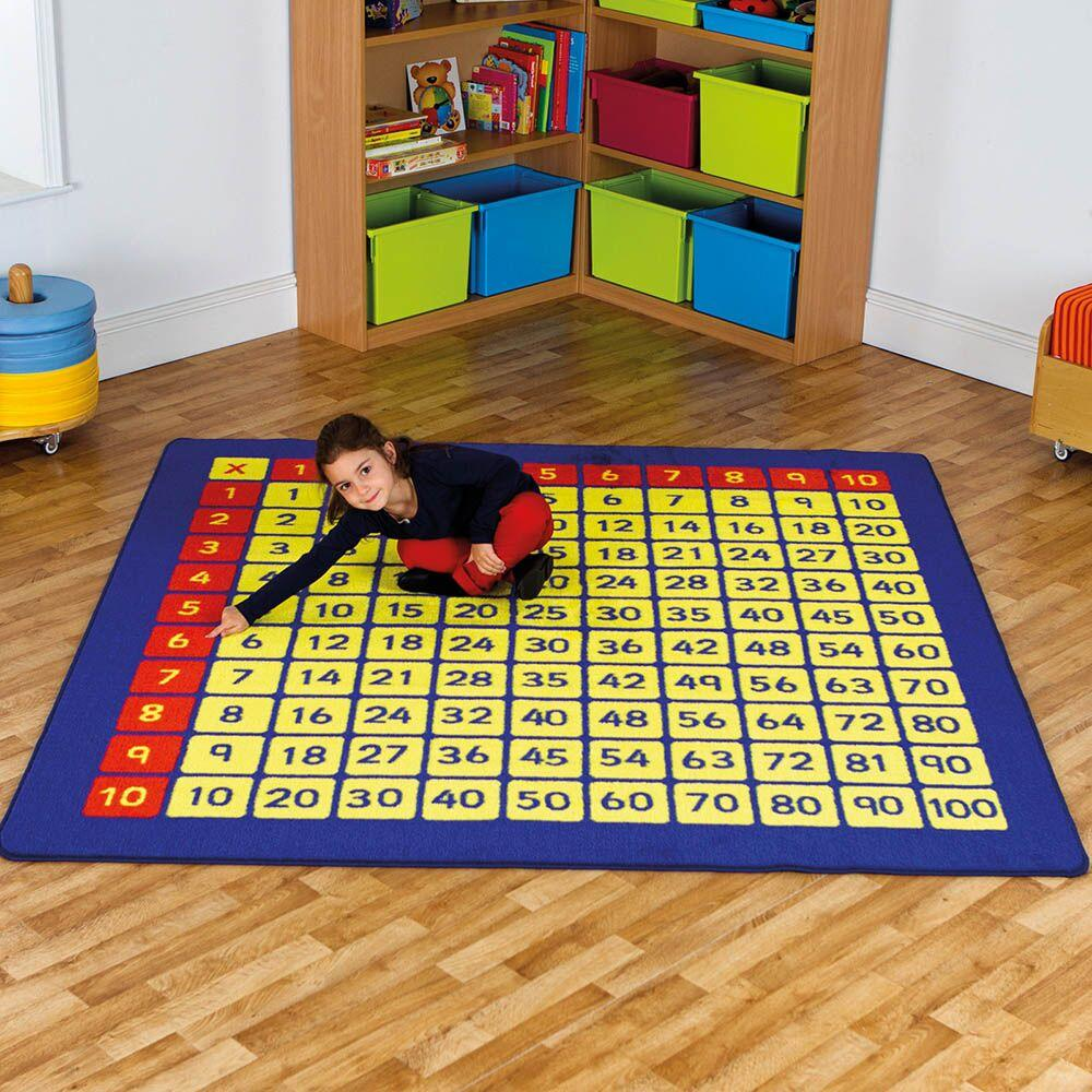 Giant 100 Number Squares Mat 200 x 200cm Multiplication