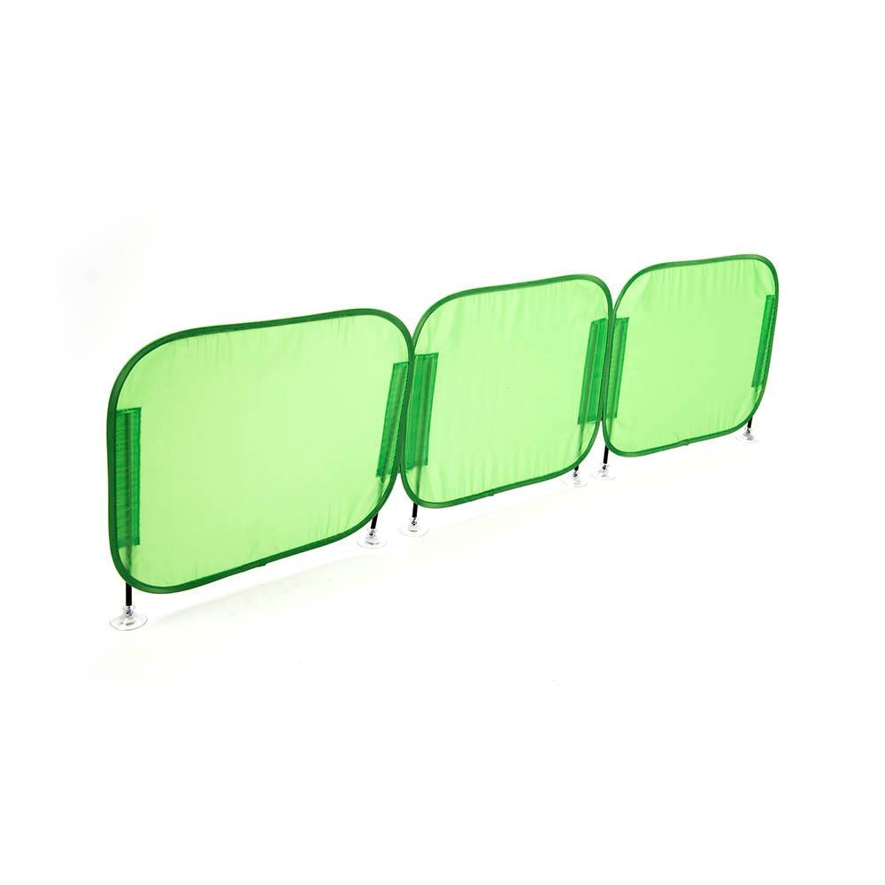 Pop-Up Concentration Desk Barrier Green