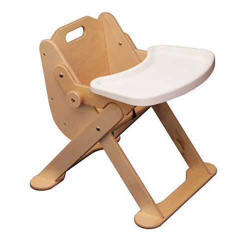 Low Level Wooden Feeding Chair with Tray