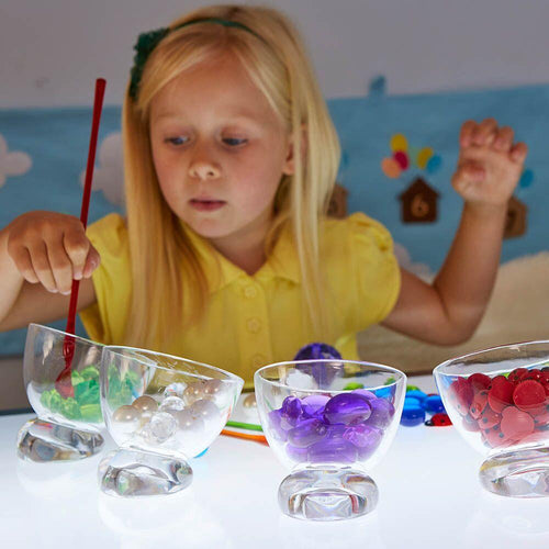 Easy Reach Sorting Sweetie Jar Set Clear 6pcs