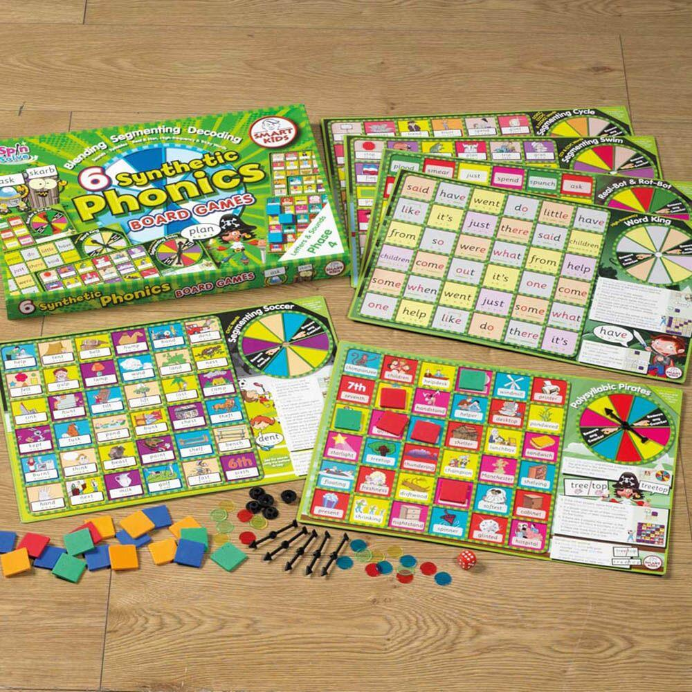 6 Synthetic Phonics Phase 4 Board Games