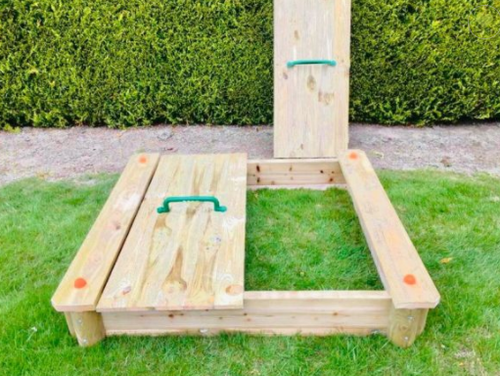 Childrens Wooden Sandbox with Cover