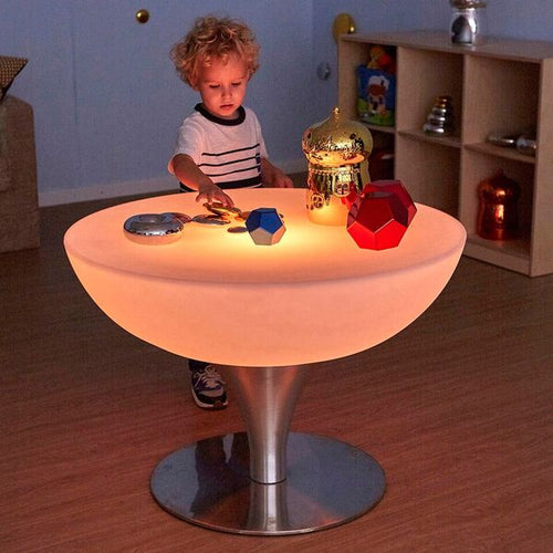 Round Light Up Colour Changing Glow Table