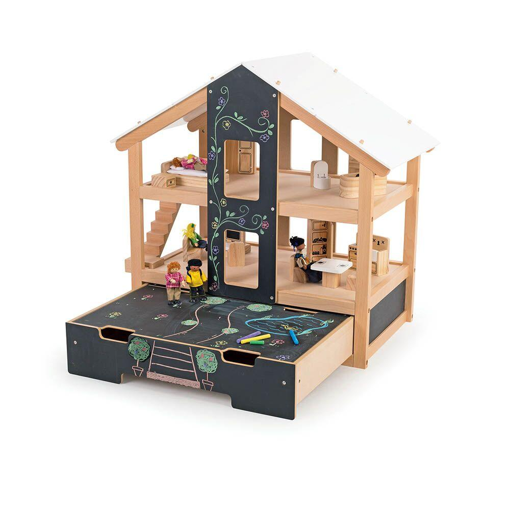 Open Plan Chalkboard Fronted Dolls House