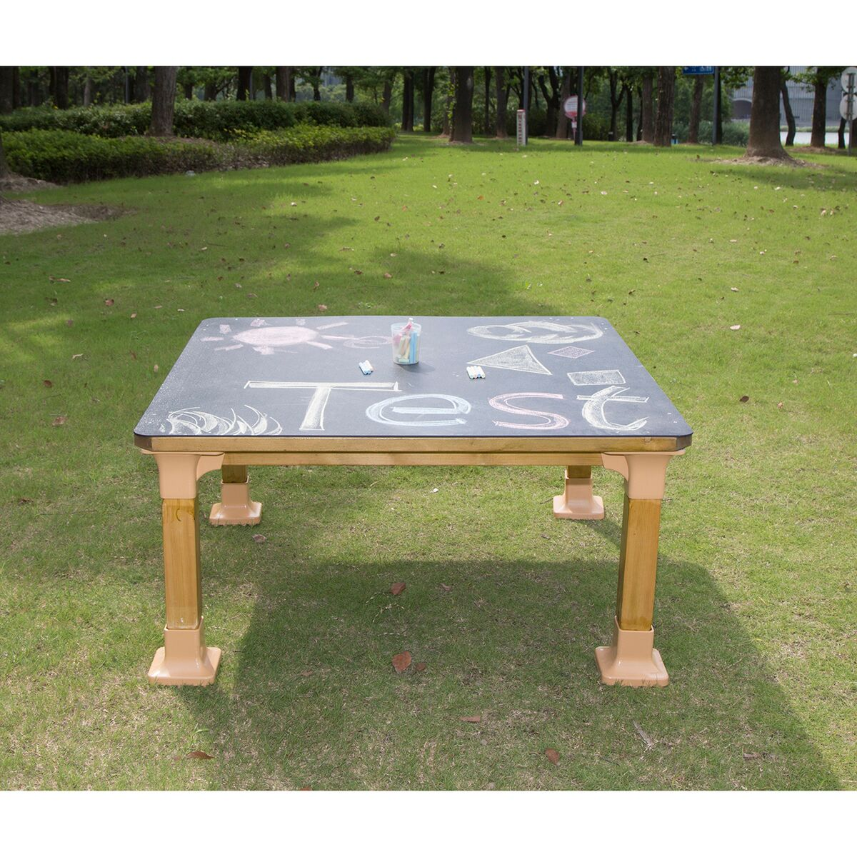 Outdoor Chalkboard Table
