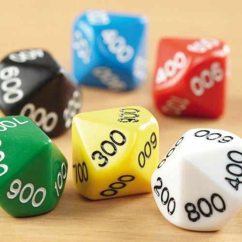 10 Sided Polyhedral Dice 00-90 50pk
