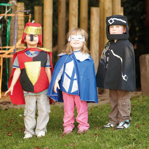 Super Hero Dress Up Costume Set 2, Cape, Mask and Gauntlet