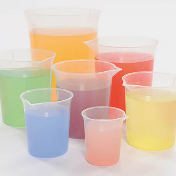 Plastic Graduated Beaker Set 7pcs