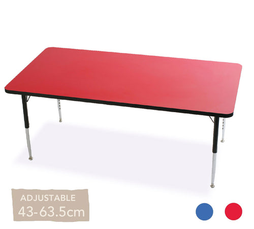 Adjustable Rectangular Table All Colours 43cm - 63.5cm