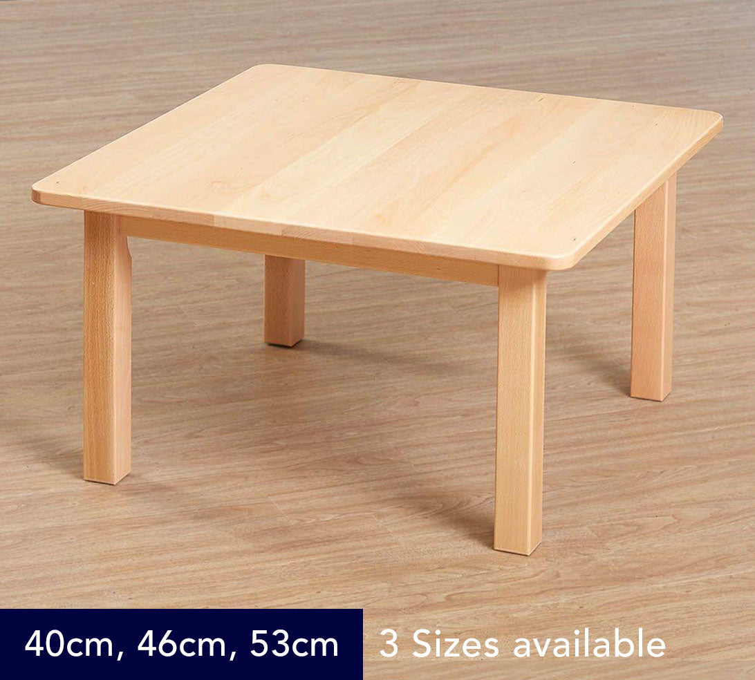 Classic Square Solid Beech Table - 3 Heights available
