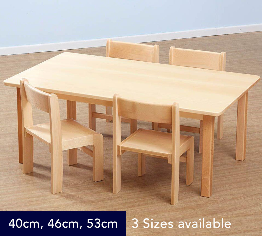 Classic Solid Beech Rectangular Table - 3 Heights available