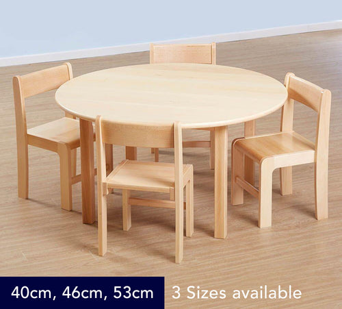 Classic Circular Solid Beech Table - 3 Heights available