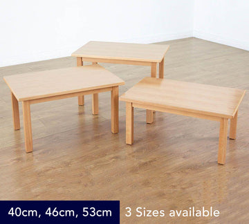 Classic Beech Rectangular Table Height - 3 Heights available