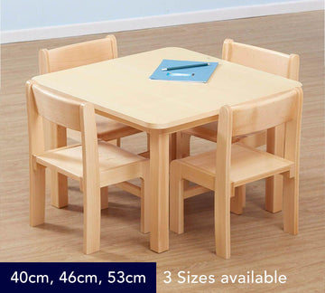 Classic Beech Square Table - 3 Heights available