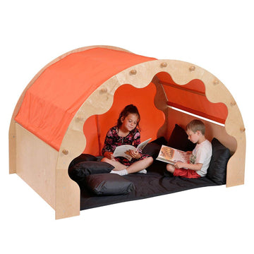 Play Pod Den Orange One Set of Curtains