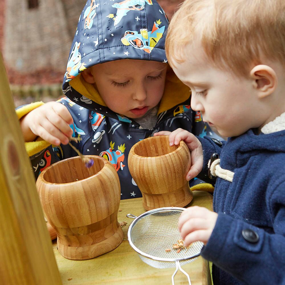 Wooden Pestle and Mortar 3pk