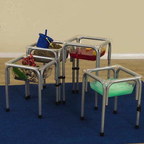 Height Adjustable Clear Sand and Water Tubs
