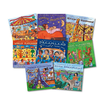 Putumayo World Multicultural Music CD Book Packs 8pk