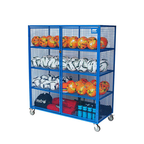 Lockable Mobile Ball Storage Cabinet H1.5 x W1.4m