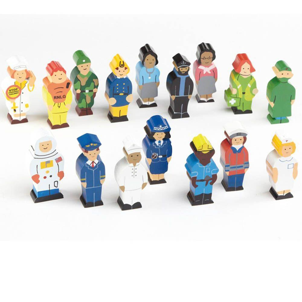 Small World Occupation Figures Set 16pcs