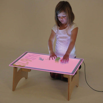 Low Level Fold Up A2 Light Panel Table Mains