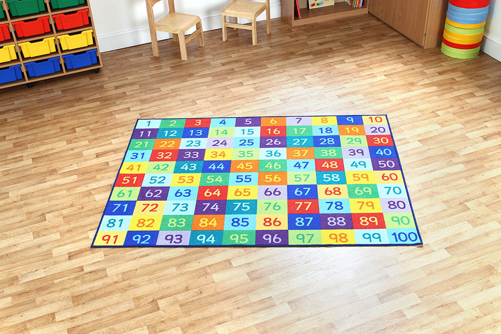 Rainbow 1-100 Number Carpet