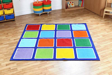 Rainbow Squares Placement Carpet - EASE