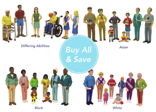 Small World Plastic Block People Buy 4 Groups And Save