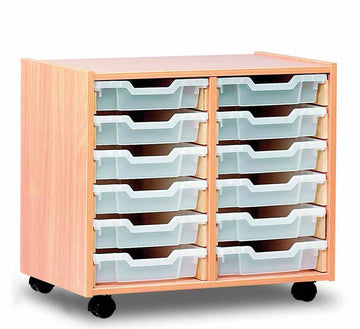 12 Shallow Tray Storage Unit Unit  for classroom storage