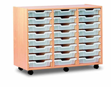 24 Shallow Tray Storage Unit Unit  for classroom storage