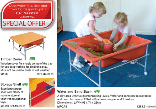 Oasis Water Tray Shelf And Cover