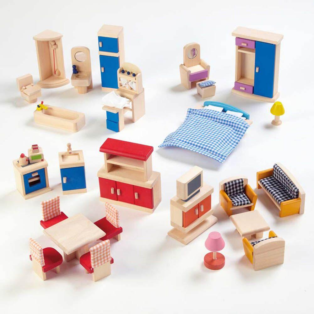 Small World Dolls House Rooms Furniture Set