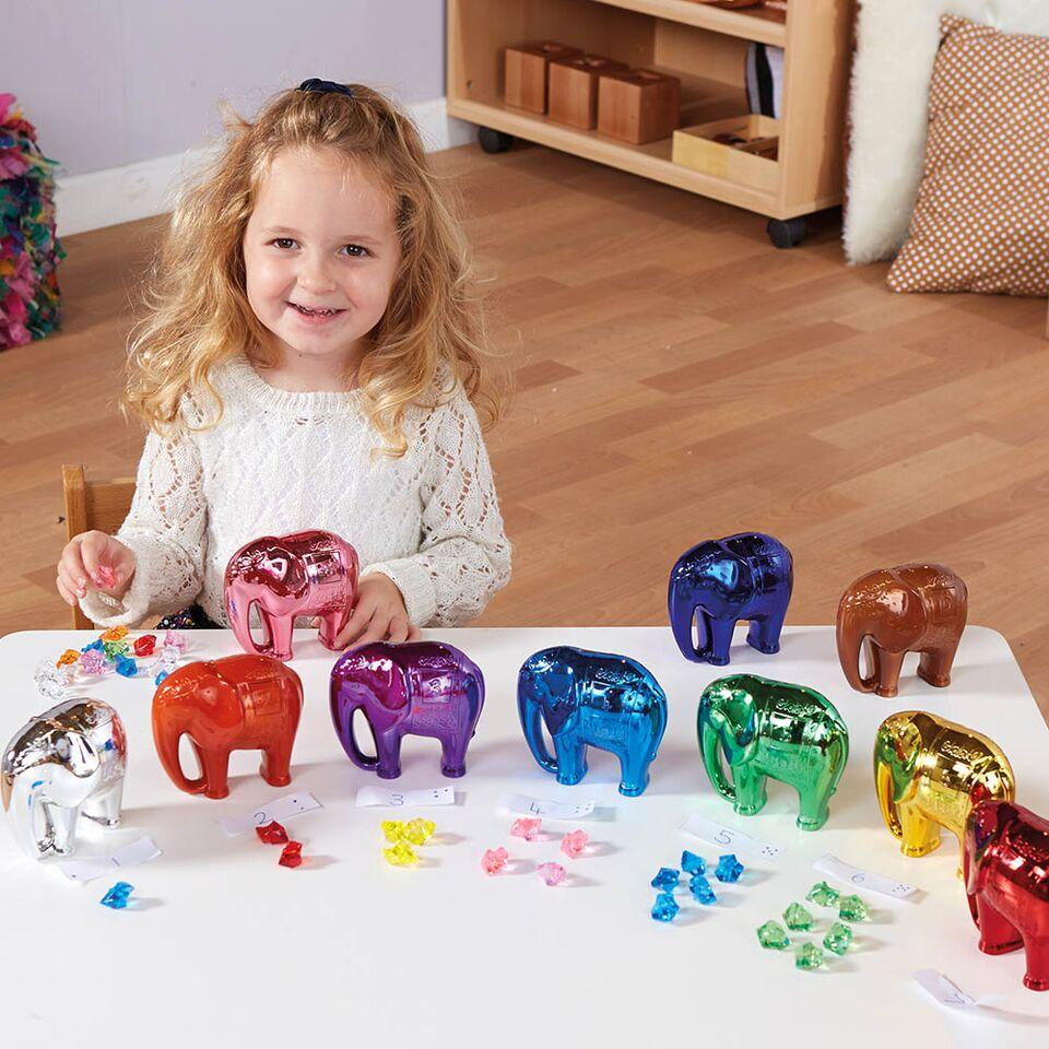 Metallic Elephant Number and Counting Set 1-10