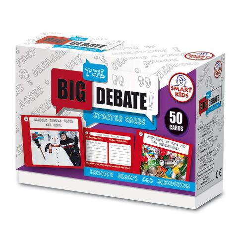The Big Debate Starter Cards Ages 7+ 50pk A5