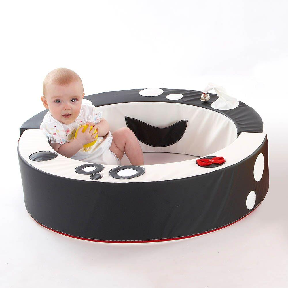 Black and White Padded Wipe Clean Baby Playring