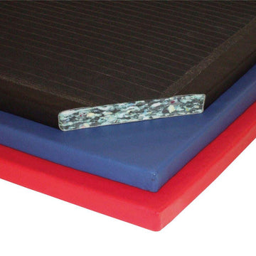 Deluxe Chipfoam Gym Mat 4ft x 3ft x 1.25'' Red