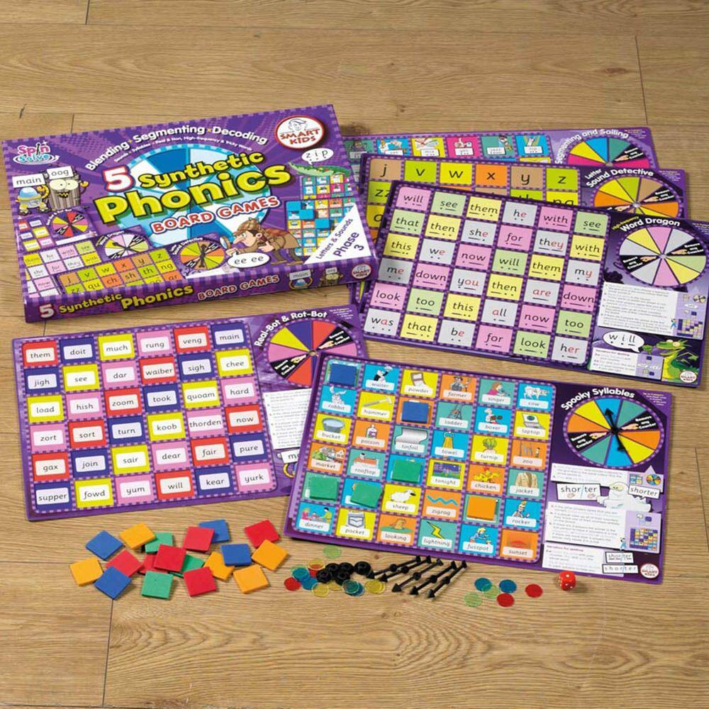 5 Synthetic Phonics Phase 3 Board Games
