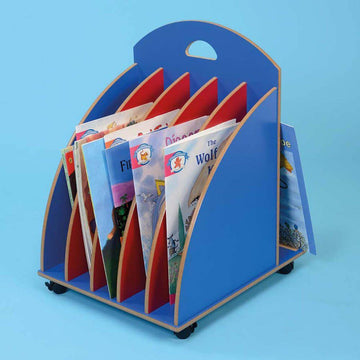 Big Book Storage Stroller Red and Blue