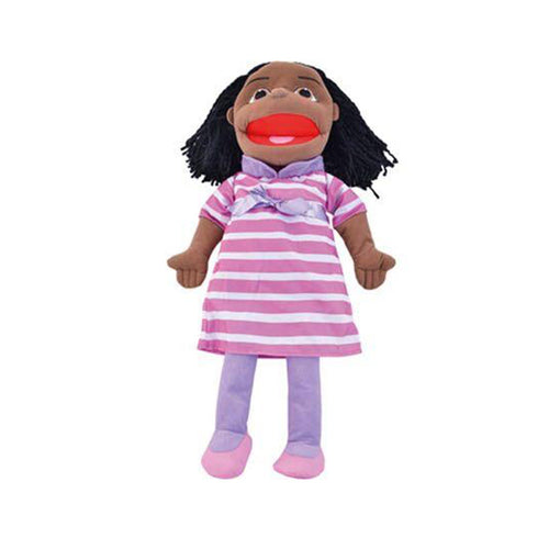 Large People Hand Puppets Black Girl