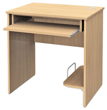 Computer desk STANDARD with shelf for computer and keyboard tray - maple