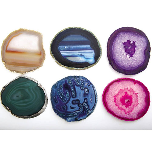 Colourful Natural Material Agates Set 6pcs