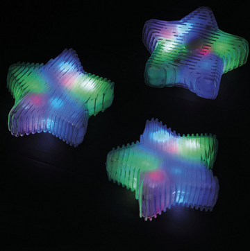 Squeezy Sensory Multicoloured Star Light 6pk