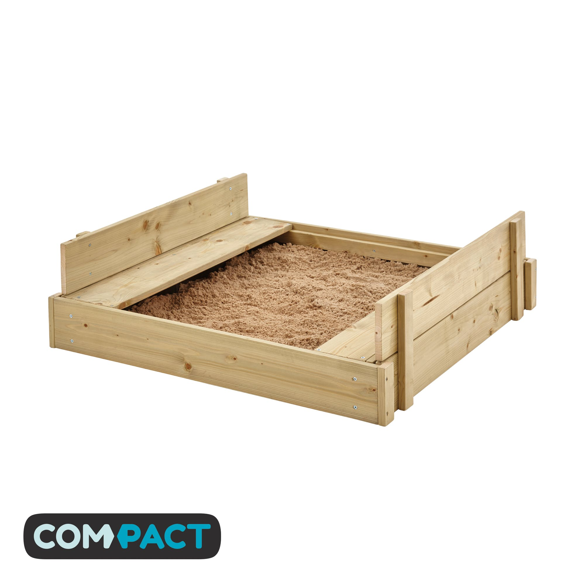 Wooden Lidded Sandpit