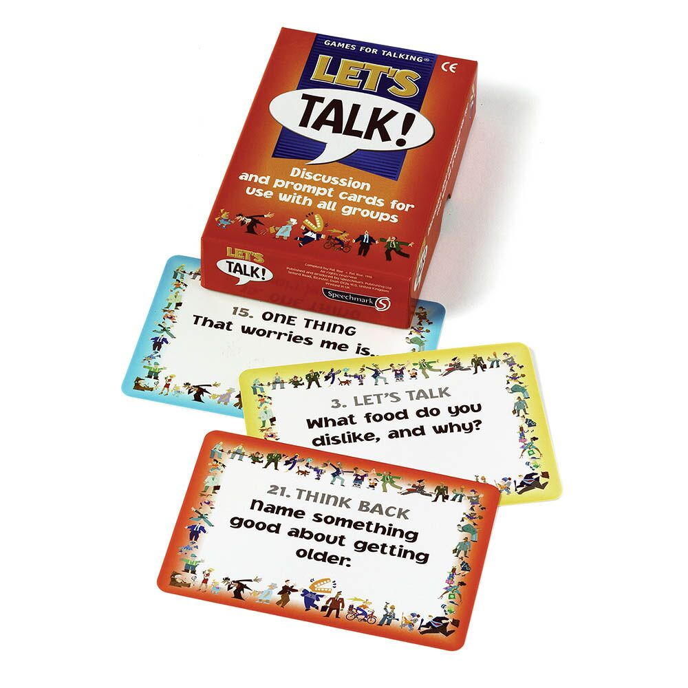 Lets Talk Discussion prompt cards