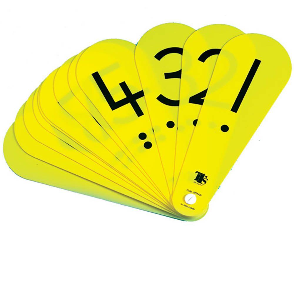 Childrens Number Fans with Decimal Point 10pk