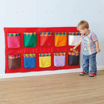 Wall Mounted Rainbow Storage Pockets 120cm
