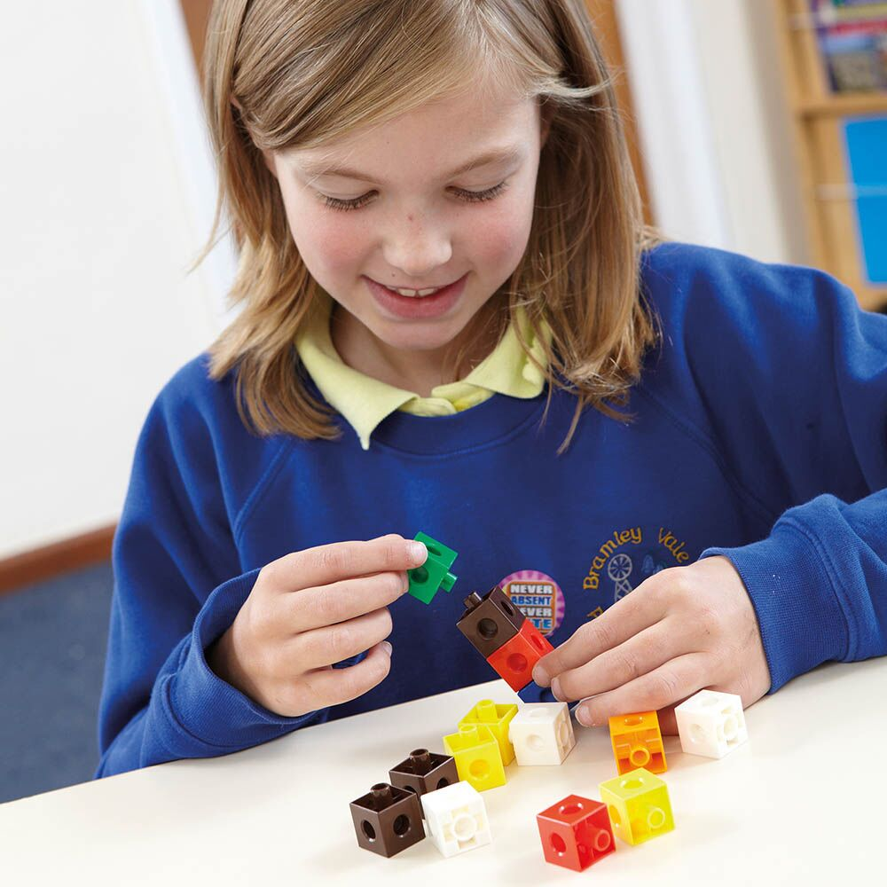 Colourful Snap Counting Cubes 1000pk